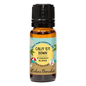 "Edens Garden Calm 'Em Down""OK For Kids"" Essential Oil Synergy Blend, 100% Pure Therapeutic Grade (Child Safe 2+, Anxiety & Stress), 10 ml"
