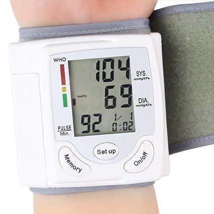 Monitor de presión arterial muñeca con precisión detecta y tasa