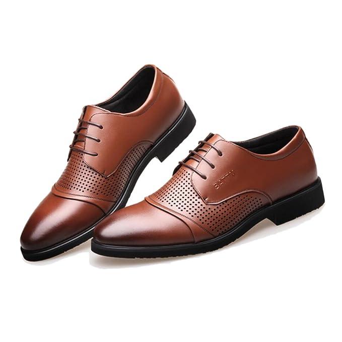 Yra Männer Sommer Business Leder Schuhe Leder Hohl Lace Up Schuhe Casual  Sandalen Breathable Spiked Herrenschuhe Walking Outdoors Arbeit  Amazon.de   ... dc3a9d51cb