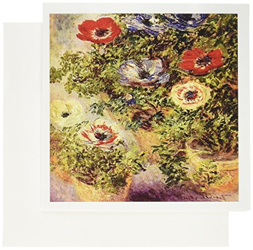 - 3dRose Monet - Still Life Painting - Greeting Cards, 6 x 6 inches, set of 6 (gc_49336_1)