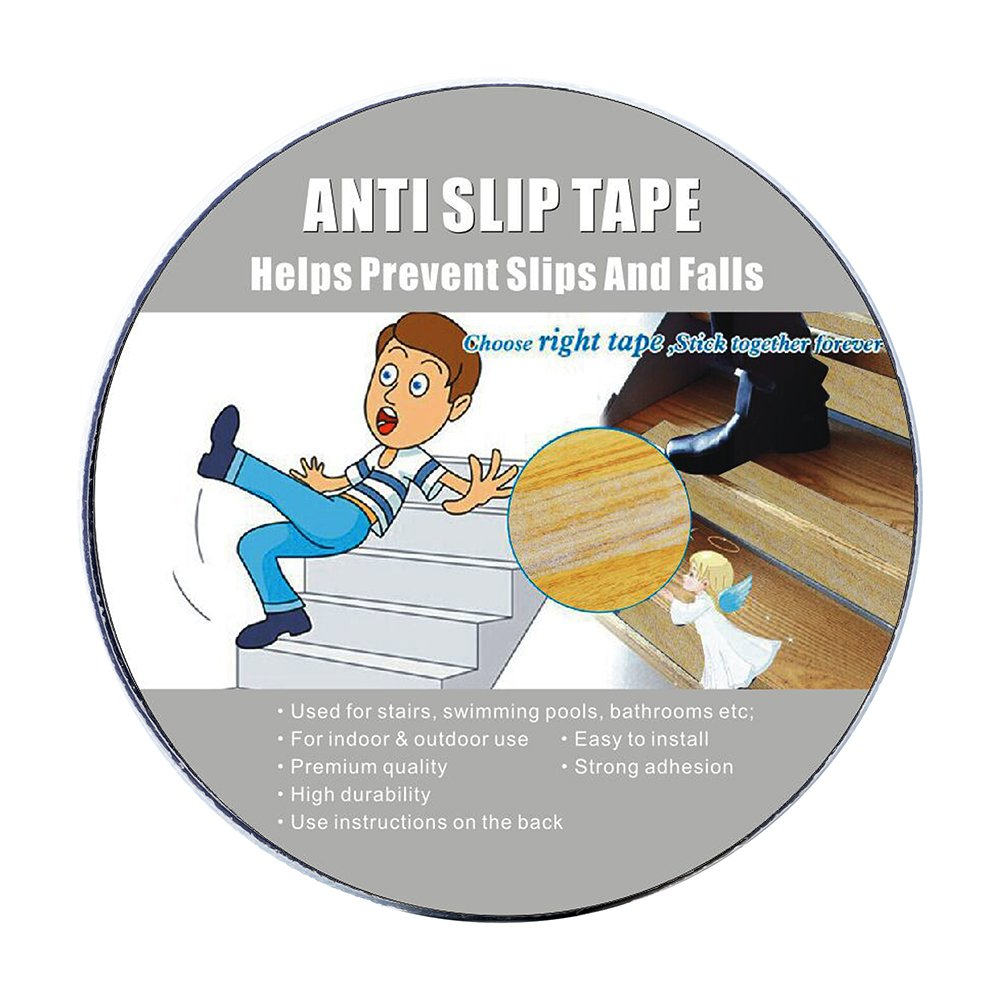 Anti Slip Tape Clear,Safety Track Tape Skid Tape Roll High Traction Strong Grip Abrasive Residue Free Adhesive (6'' Width x 190'' Long, Clear)
