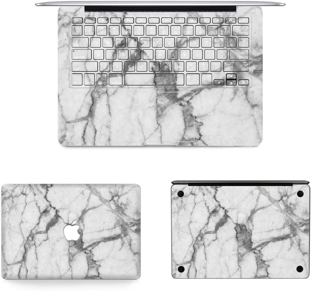 // A1369 US Version JIN Suitable for Mac 3 in 1 MB-FB16 9 Bottom Film Set for MacBook Air 13.3 inch A1466 Full Keyboard Protector Film Full Top Protective Film 2010-2012 2012-2017