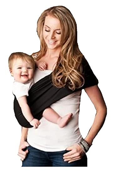09d6e2a38a1 Amazon.com   Seven Everyday Slings Baby Carrier Sling Color Black Size  4 Medium   Child Carrier Slings   Baby