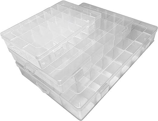 On1estante, Caja de Almacenamiento de plástico Duro, Transparente ...