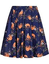 Women's High Waist Cute Animals Printed Skater Skirt...