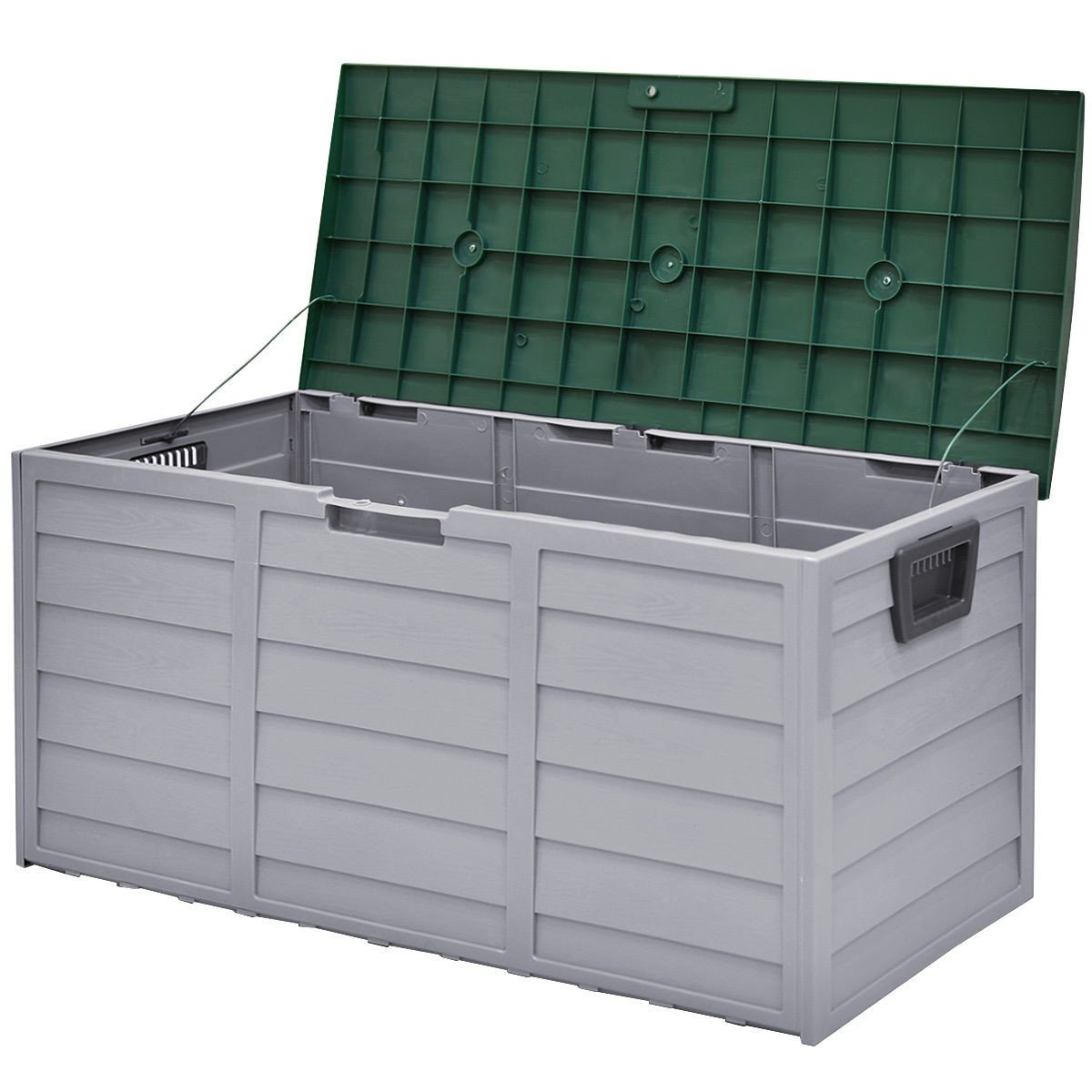 COSTWAY 70 Gallon Durable Outdoor Plasic Storage Box + FREE E-Book by COSTWAY (Image #3)