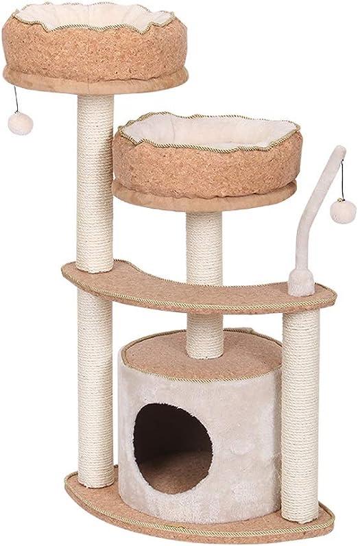 HXGL-Árboles para gatos Juguete Del Árbol Del Gato Del Gato Del Gato De La Torre De Sisal Gato Rascador Agujero Del Árbol Plataforma Casa Nido De Alimentos For Mascotas Actividad Suficientemente Grand: