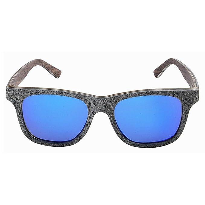 56c39d5696 Peggy Gu Gafas de sol de piedra hechas a mano de los hombres Forma cuadrada  Pierna de madera polarizada TAC Lens Protección UV Gafas de sol de  conducción ...