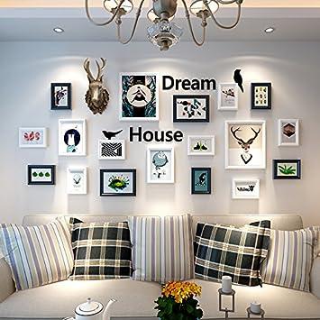 Das Wohnzimmer Einrichtung Der Esszimmer Schlafzimmer Wandmalerei  Wandmalerei Kombiniert Amerikanische Elk Kopf Wandmalerei, 2