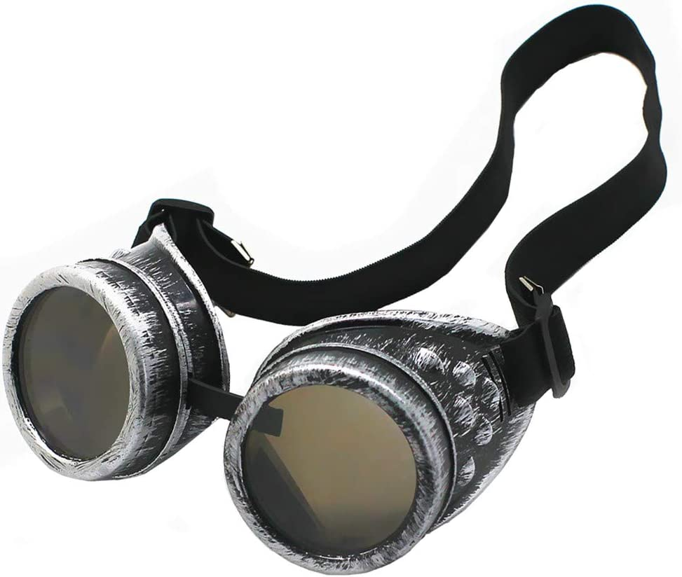Vintage Steampunk Goggles Glasses Cosplay Cyber Punk Gothic