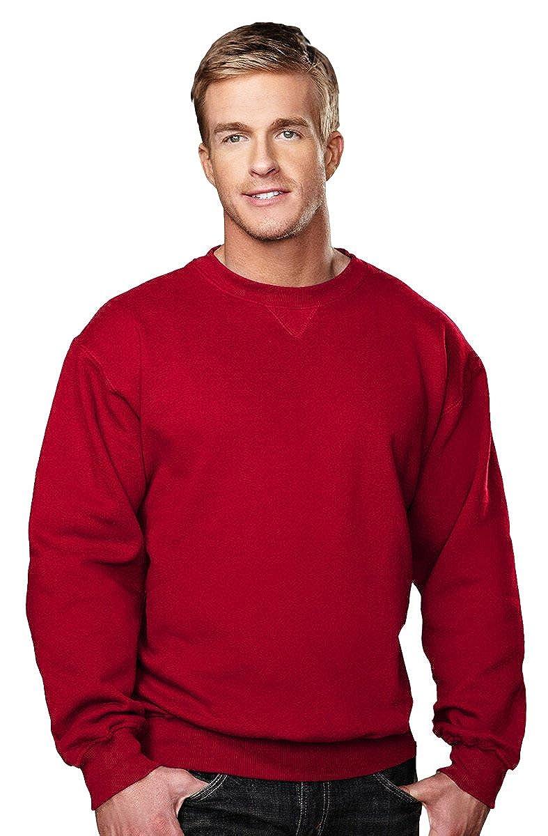 Tri-Mountain Men's Aspect V Patch Rib Knit Twill Sweatshirt (10 Colors, S-6XLT) 680