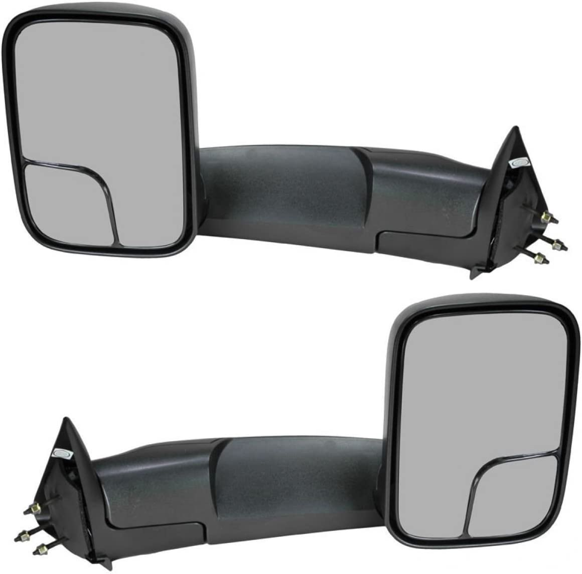 Fits 94-01 Ram 1500 Left Right Tow Mirrors 94-02 2500 3500 Manual w//mount Brkt