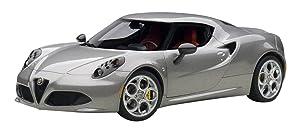 AUTOart 1/18 composite model Alfa Romeo 4C (metallic gray)
