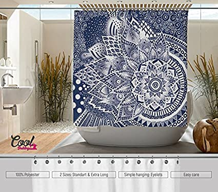 Cool Bedding LACE MANDALA Shower Curtain Designed By Bathroom Mandala Lace Decor
