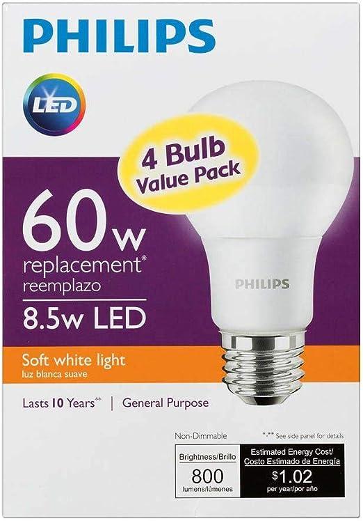 Amazon.com: Bombilla LED 60equivalente a 60 watts A19 ...