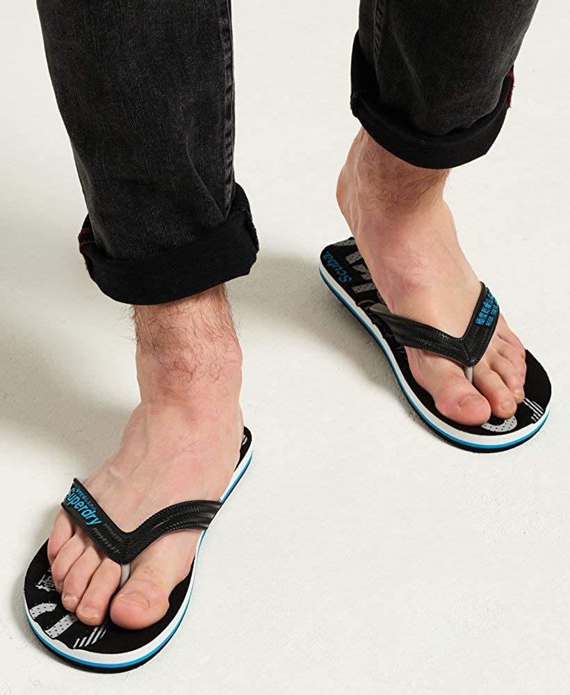 Superdry Scuba Perforated Flip Flop Tongs Homme