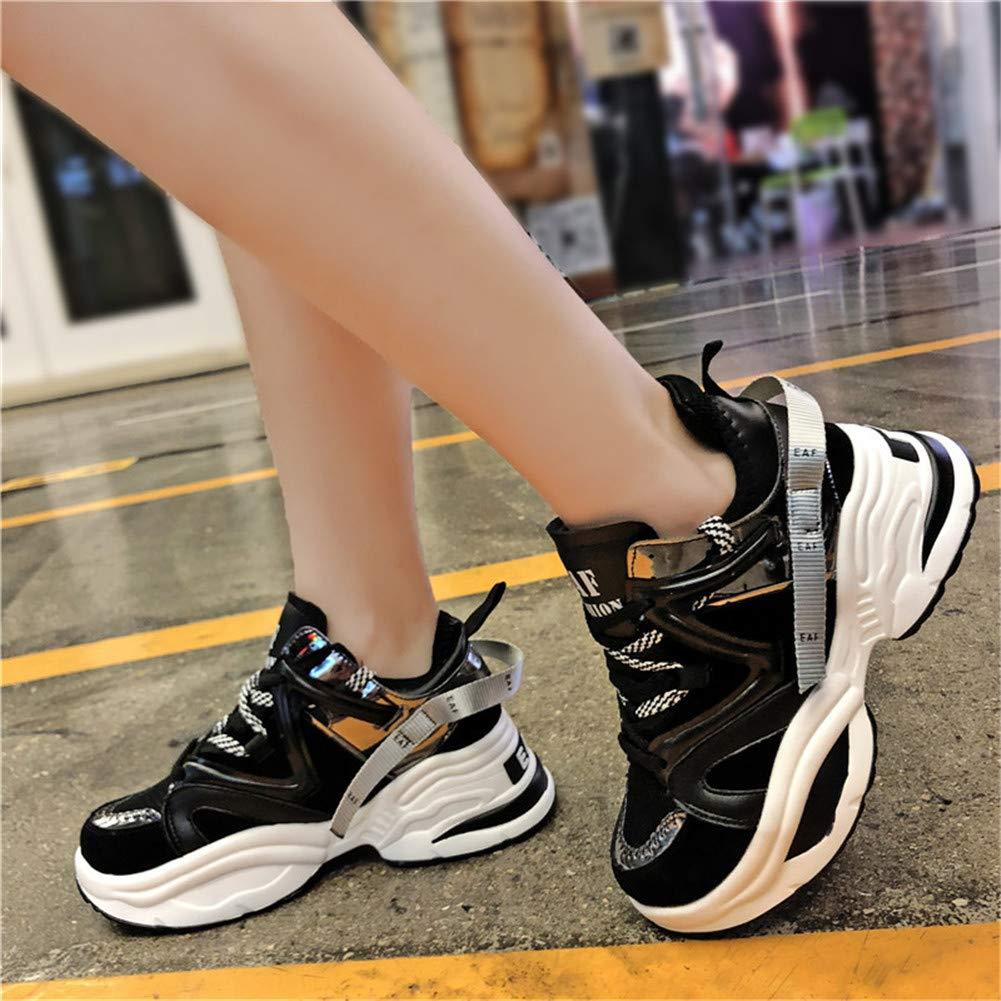 Mode f/éminine Chunky Sneakers Femme Marche en Plein air Chaussures /à Talons Hauts Dames /épaisses Plateforme Sneakers