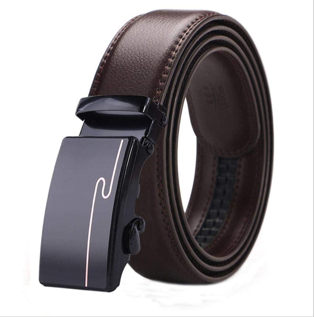 Wide Fully Adjustable 3.5cm Adjustable Ratchet Dress Belts for Men with Automatic Belt Buckle, Mens Casual Business Leather Belts Ratchet Belts
