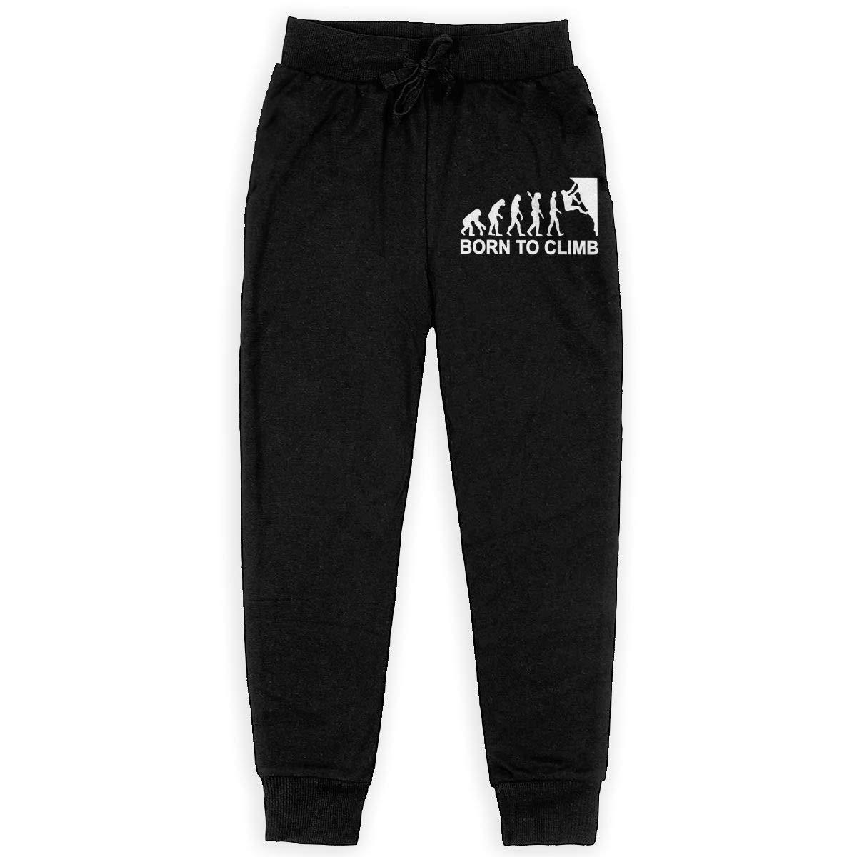 WYZVK22 Evolution Climbing Soft//Cozy Sweatpants Teenager Warm Fleece Active Pants Teen Boy