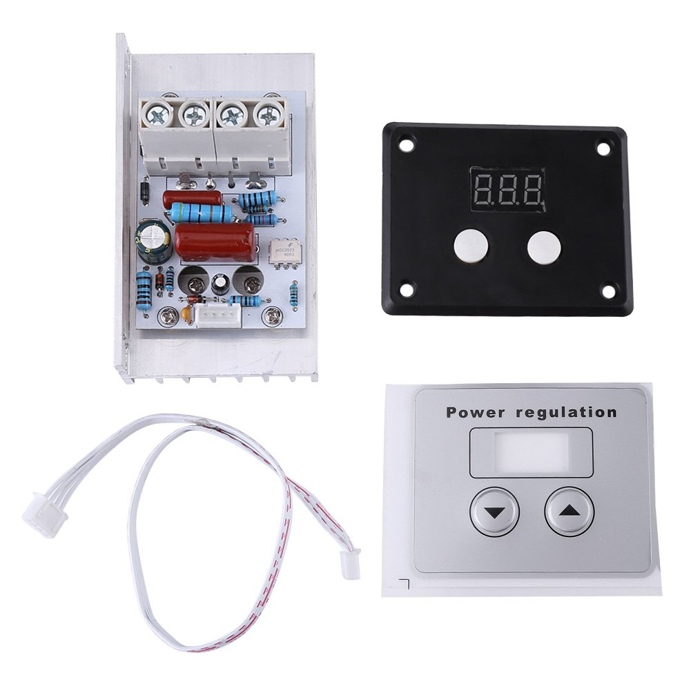 Voltage Controller AC 220V 80A 10000W SCR Digital Voltage Regulator Speed Control Dimmer Thermostat Dimming Control Attemperation Thermoregulation