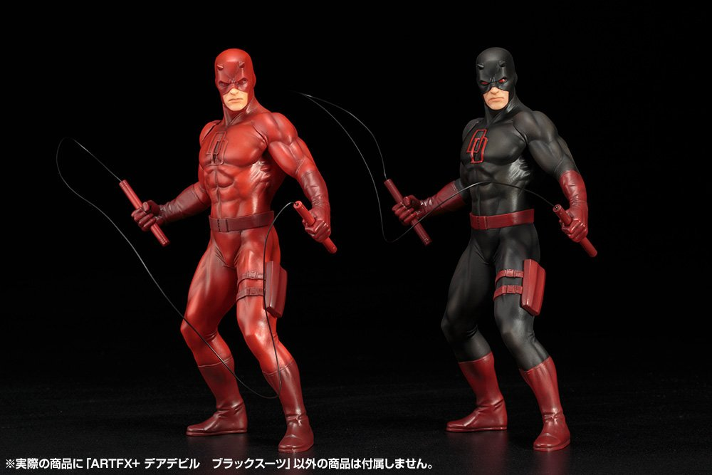 DAREDEVIL TRAJE NEGRO ESTATUA 18.5 CM THE DEFENDERS SERIES ...