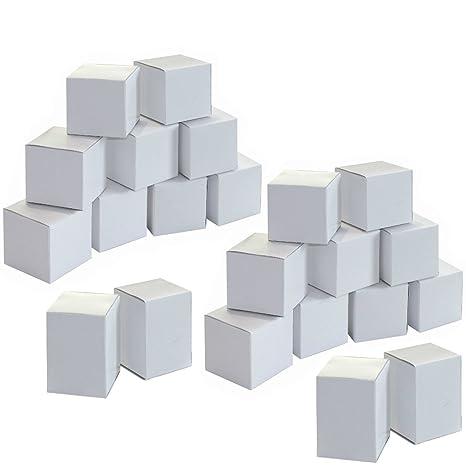 Calendrier De L Avent A Fabriquer 24 Boites Cube En Carton Blanc A