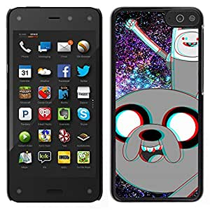 // PHONE CASE GIFT // Duro Estuche protector PC Cáscara Plástico Carcasa Funda Hard Protective Case for Amazon Fire Phone / Divertido Advanture dibujos animados del espacio /