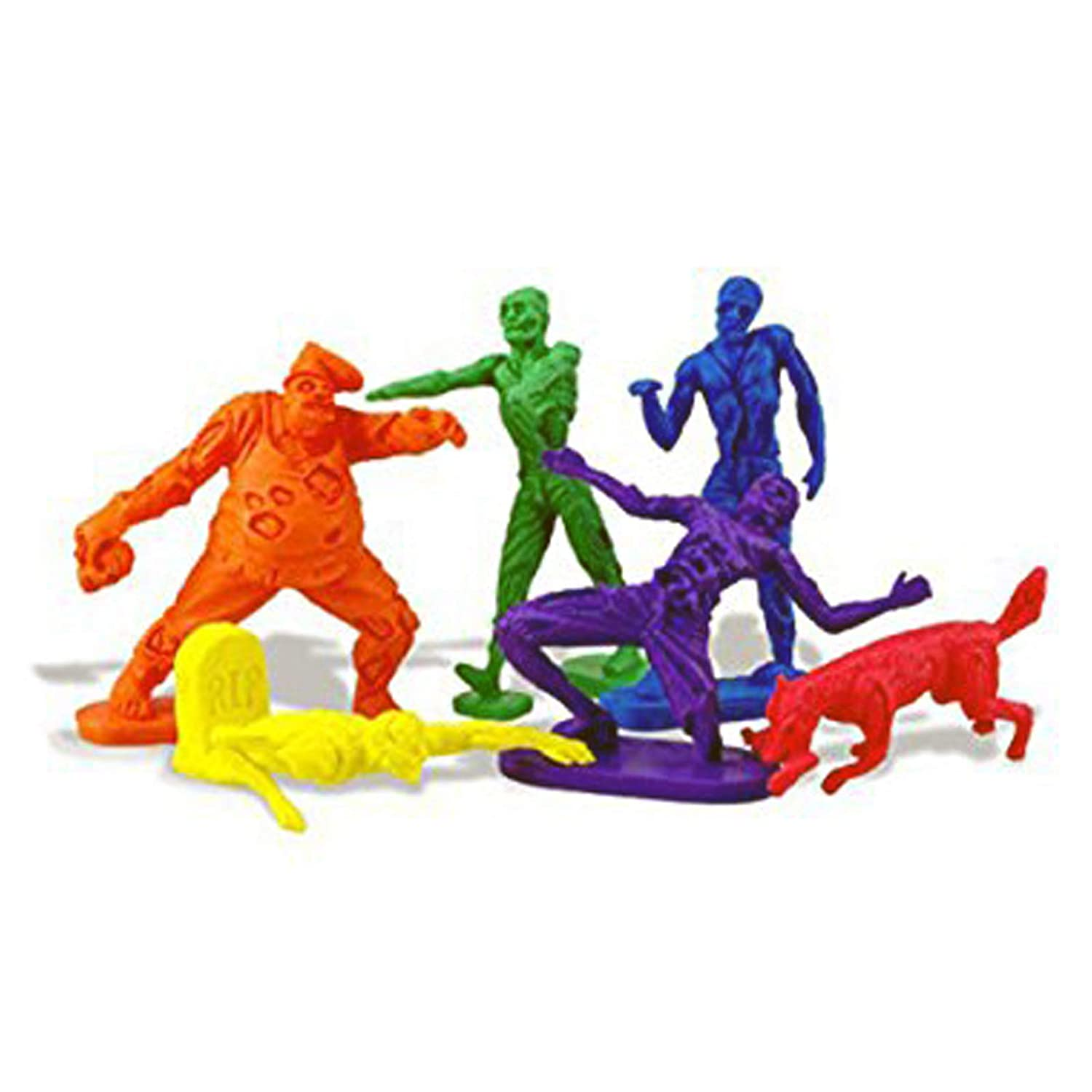 Colorful Horror Zombie Erasers - Set of 5 - by NUOP Design