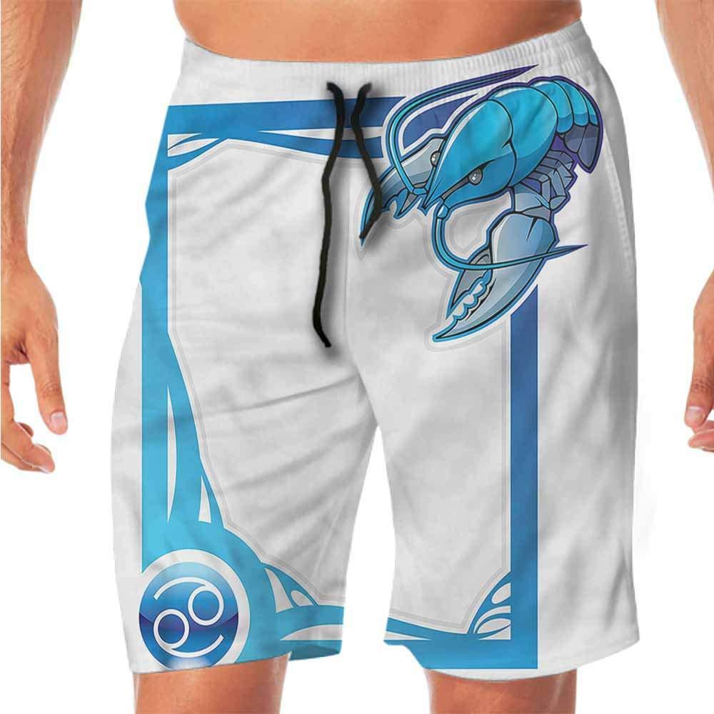 Quick-Dry Beach Swim Shorts Zodiac Aries,Head of Aries Art Shorts for Teen
