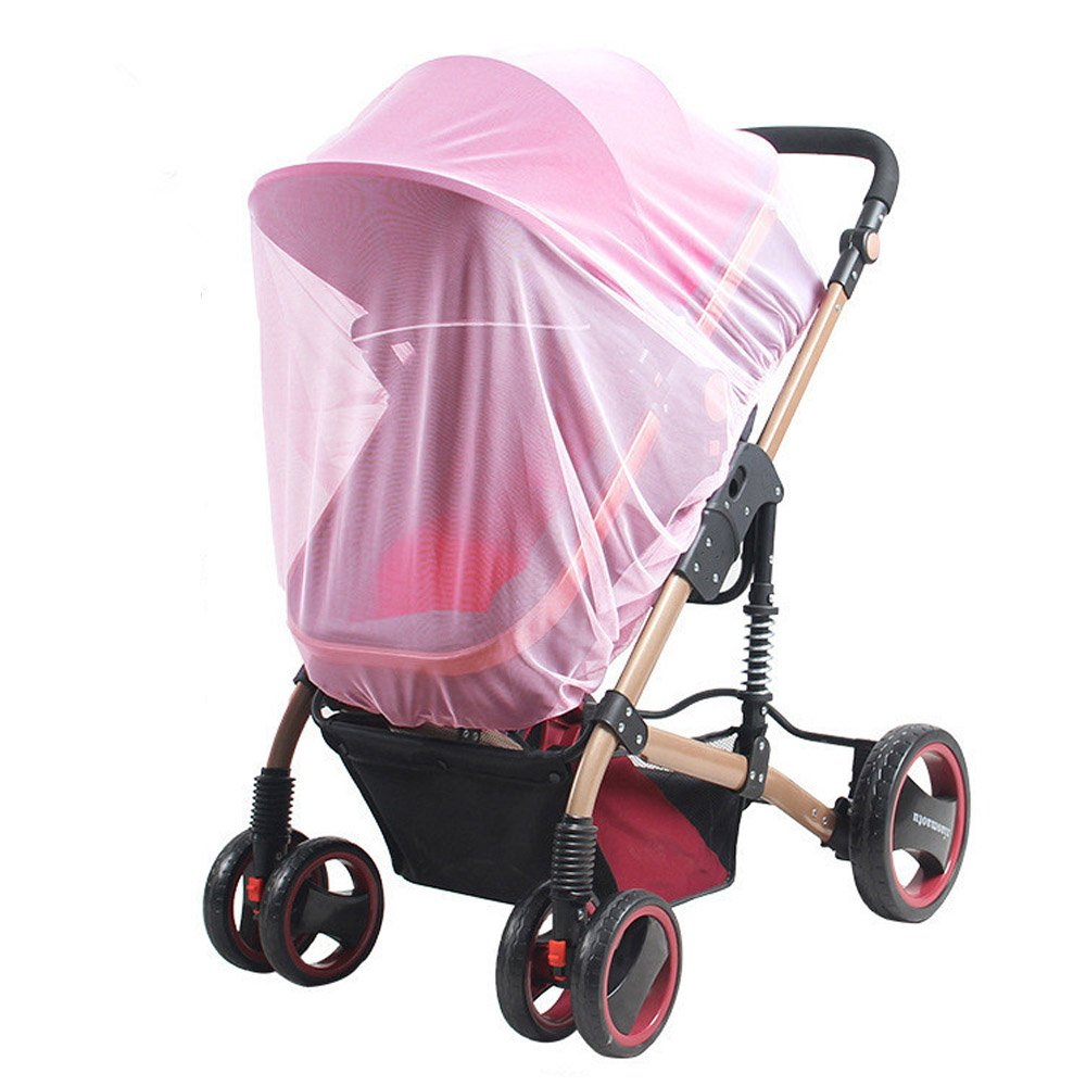 Universal Insect Mosquito Bug Safe Mesh Net Full Cover for Baby Prams Strollers Bassinets Cradles Buggy Pushchairs Coffee Gosear