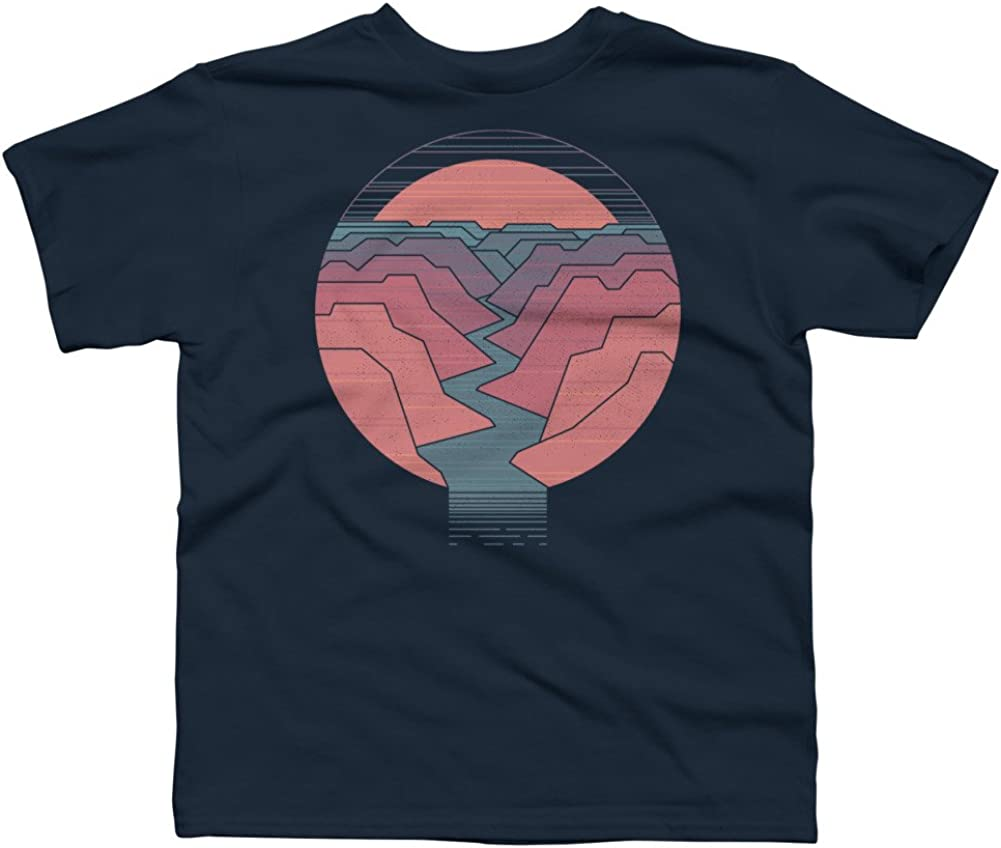 Design By Humans Canyon River Boys Youth Graphic T Shirt