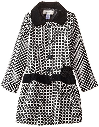 Widgeon Big Girls' Velvet Trim Coat, Basket Weave, 7