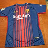 #8: New Season Barcelona Messi 10 2017/2018 Home Soccer Jersey For Men Color Blue Size M