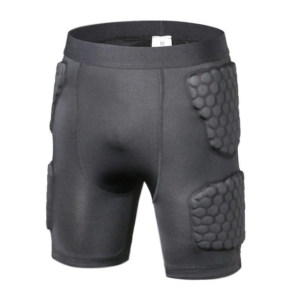 胸プロテクターパッド入り圧縮シャツ長袖肘パッド肩リブ保護Suit for Footballペイントボール B07LBFJ966 Pants Small