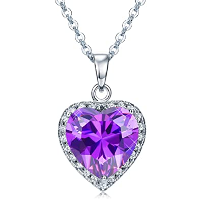 Amazon vesil unique mothers day gifts purple diamond heart vesil unique mothers day gifts purple diamond heart choker pendant necklace for women jewelry aloadofball Choice Image