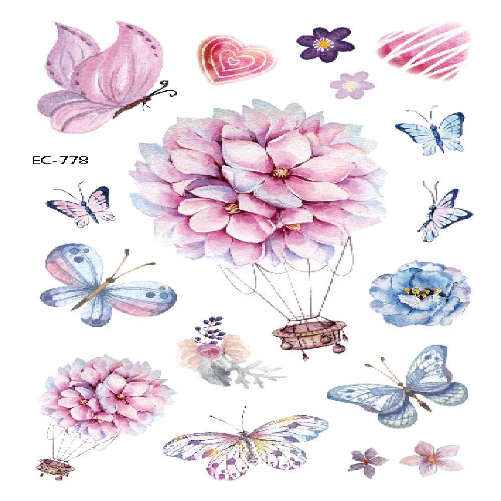 adgkitb 5piezas Mariposa Tatuaje Pegatina para niños Regalo de ...