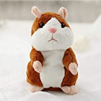 Toyshine Talking and Moving Hamster Plush Soft Toy Doll for Kids, Repeats What You Say, Battery Opetated (17 Cms)