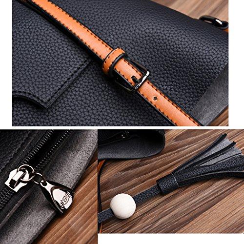FAIRYSAN , Damen Tote-Tasche Braun Hellbraun X-Large schwarz