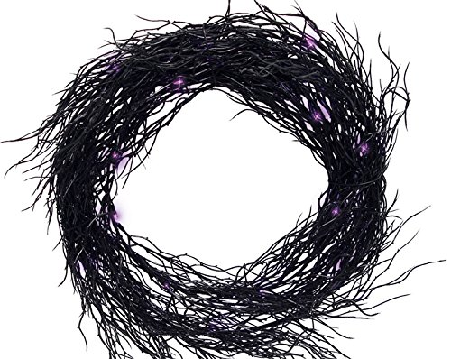 Halloween Wreaths (Sienna K4606n13 Battery Operated Wreath Halloween Decoration, Black, 14