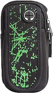 Tclothing Casual Sport Bracciale impermeabile per telefono cellulare da 6 pollici piccolo braccio leggero borsa per corsa, jogging, camminata, uomo, supporto cellulare da donna (nero)