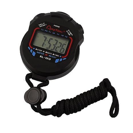 Cronómetro digital deportivo, de la marca Jooks, con pantalla LCD y alarma