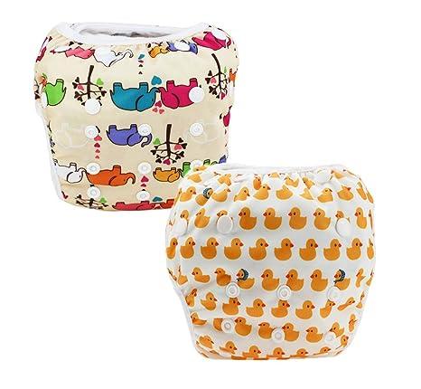 JT-Amigo Pañal Bañador Reutilizable Para Bebé (Pack de 2), Set 2