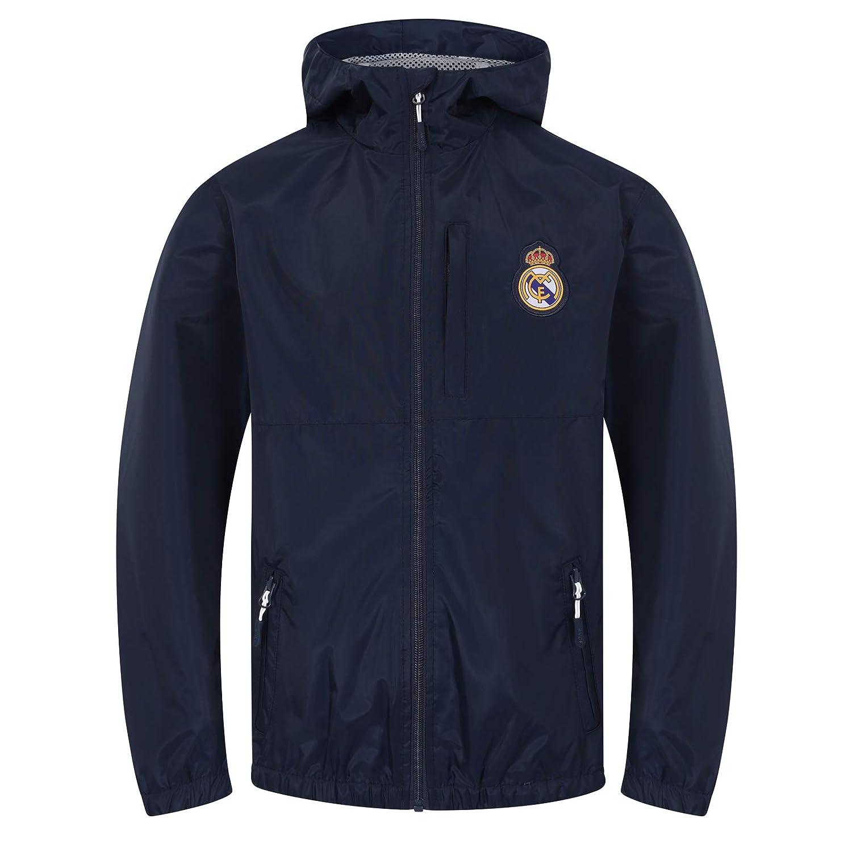 Real Madrid - Chaqueta Cortavientos Oficial - para niño - Impermeable: Amazon.es: Ropa y accesorios