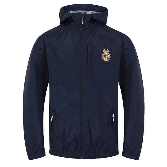 Real Madrid - Chaqueta Cortavientos Oficial - para niño - Impermeable   Amazon.es  3875f656d9f47