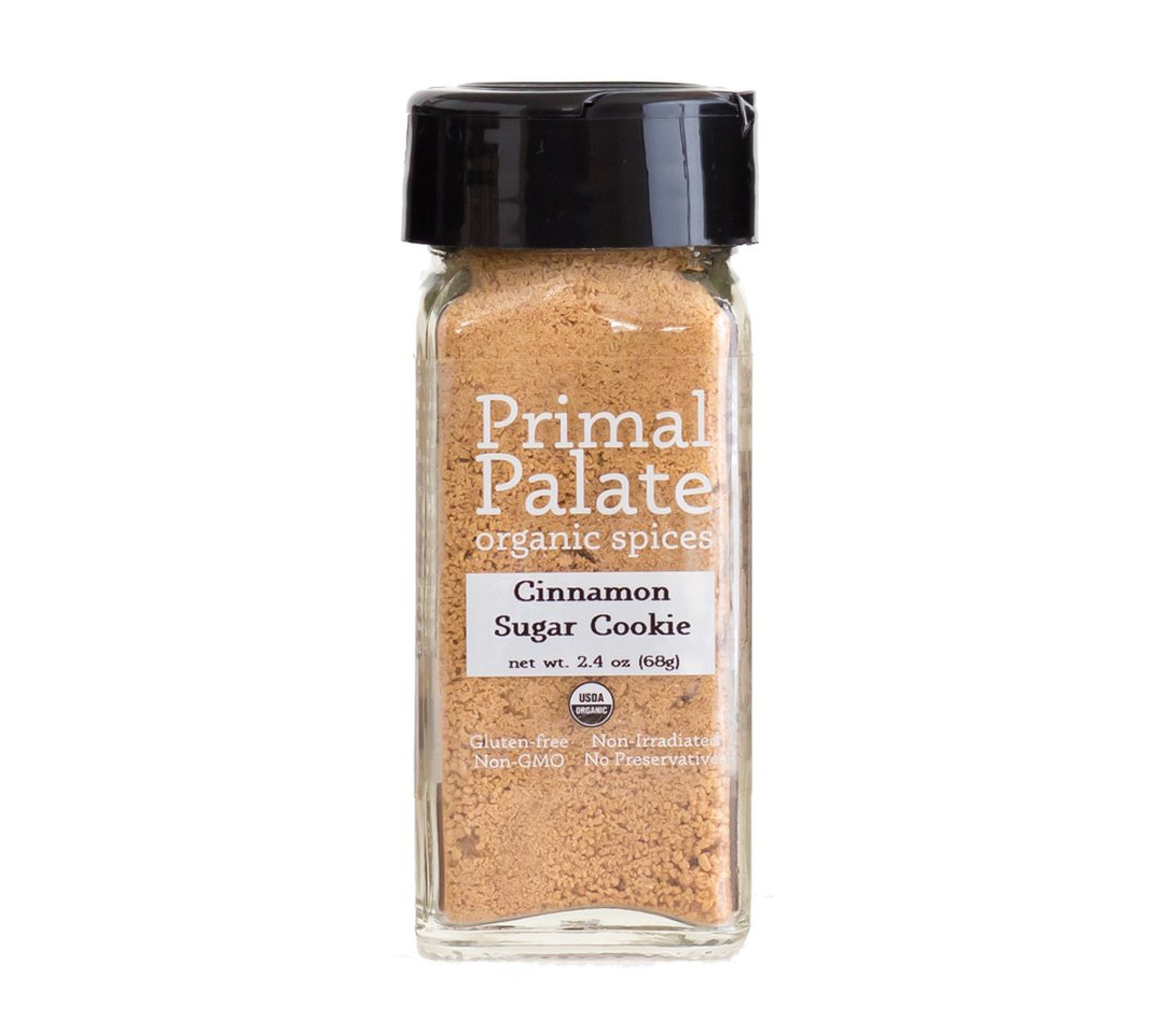 Primal Palate Organic Spices Cinnamon Sugar Cookie Blend, Certified Organic, 2.4 oz Bottle