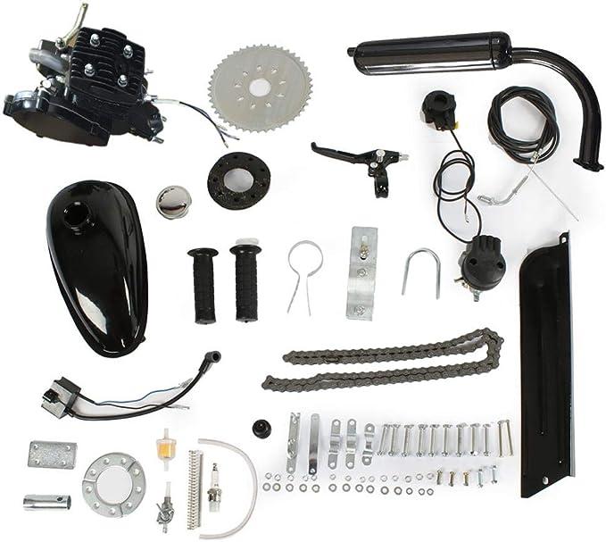 Gati-way Juego de Motor de Gasolina motorizado de 2 Tiempos para Bicicleta de 50 CC, 24 Pulgadas, 26 Pulgadas, Color Negro: Amazon.es: Hogar