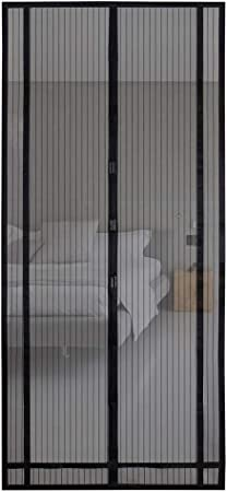 gr/âce au montage facile /à coller Sekey 220x130 cm Rideau magn/étique anti-insectes id/éal pour porte de balcon porte cave noir d/écoupable en hauteur et largeur porte de terrasse