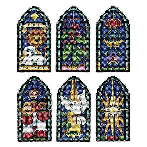 - Design Works Stained Glass Ii Ornaments Counted Cross-Stitch Kit