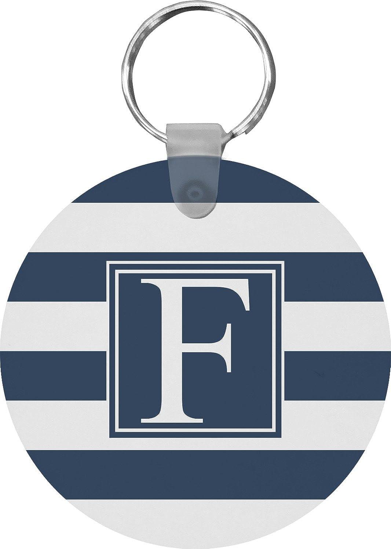 Horizontal Stripe Round Keychain (Personalized)