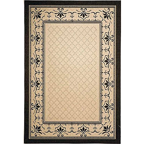 Safavieh Courtyard Collection CY0901-3901 Sand and Black Indoor/Outdoor Area Rug (4' x 5'7